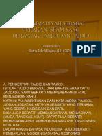 Muhammadiyah Sebagai Gerakan Islam Yang Berwatak Tajrid Dan