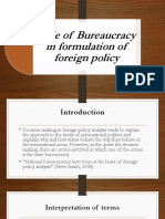 Role of Bureaucracy in Formulation of Foreign Policy.