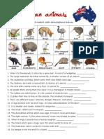 Australian Animals Simple
