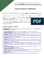 Minuta Contrato de Prestacao de Servicos de Empreitada (1)