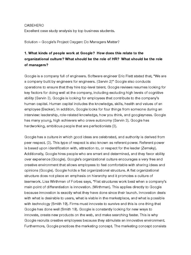 organizational culture of google essay