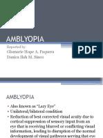 Amblyopia Sssss