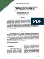 EVALUASI RANCANGAN INSTALASI LlSTRIK PADA PROYEK PEMBANGUNAN GEDUNG BLOK I UNIVERSITAS TARUMANAGARA JAKARTA.pdf