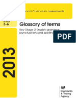 Grammar Glossary of Terms