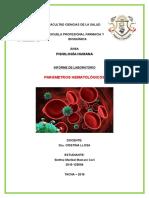 informe hematologia