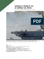 Rusia Empieza a Reducir Su Presencia Militar en Siria