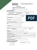 Formulario de curriculum (ejemplo)