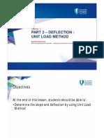 Chapter 2 Part 2 – Deflection Unit Load Method