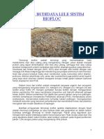 Teknik Budidaya Lele Sistim Biofloc