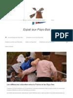 Les Différences Culturelles Entre La France Et Les Pays-Bas -