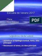 tema, idea principal y secundarias