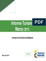 Informe Turismo Marzo 2015