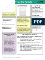 m2 - arithmetic operations including division of fractions  tip sheet