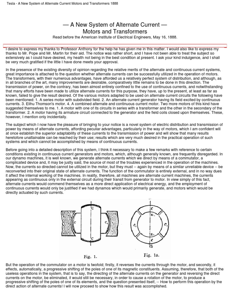 Collection Of Articles By Nikola Teslapdf Electric Generator Tesla Alternating Current Diagram Dynamo Machine Inductor