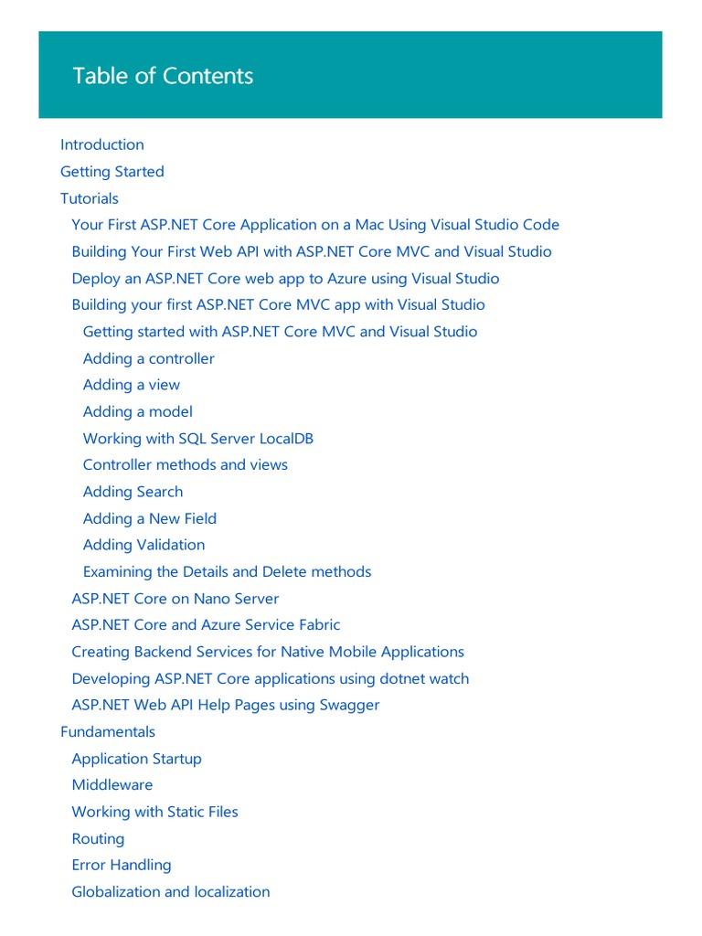 ASP.NET Core Documentation | Model–View–Controller | Microsoft Visual Studio