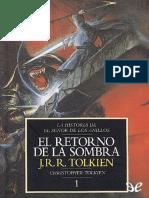 01 La Historia de El Señor de Los Anillos El Retorno de La Sombra (Tolkien)