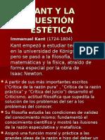 Tema IV. Kant y La Cuestion Estetica