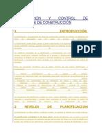 Planificacion y Control de Proyectos de Construcción