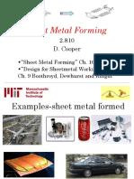 Sheet Metal Forming 2015