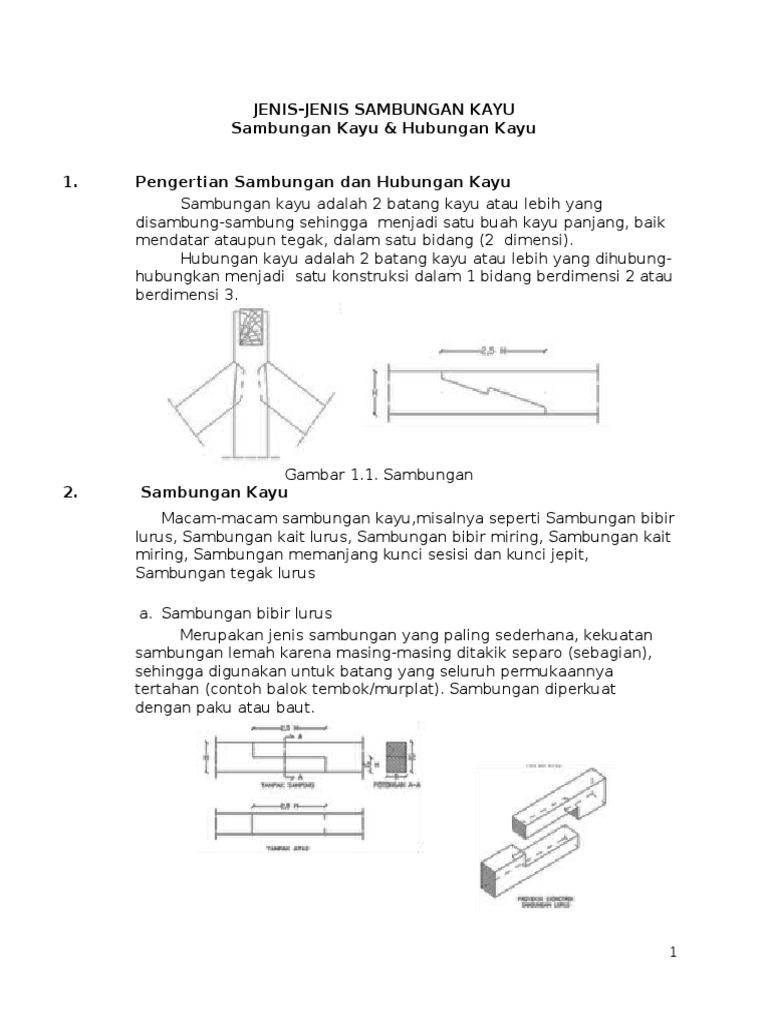 Jenis sambungan kayu dan hubungan kayu ccuart Image collections