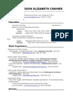 carson cramer resume 2016