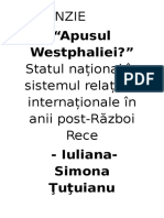 Recenzie apusul westphaliei