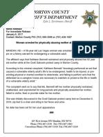 Felony Arrest for Kathleen Bennett--Vulnerable Elder 6Jan17