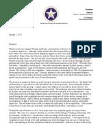 Rep. Dan Kirby's caucus letter