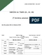 Partie II- Emplois Du Temps 2016-2017(S1-S3-S5)
