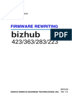 Firmware Rewriting Bizhub 223 283 363 423