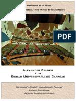 Calder y La Ciudad Universitaria de Caracas