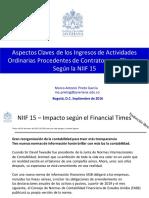 Aspectos Claves de La NIIF 15 Ingresos de Actividades Ordinarias Precedentes de Contratos Con Clientes