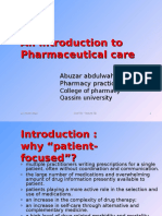 Lecture (2) - Pharmaceutical Care