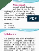 Syllablic Consonants