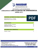 Tableros Para Plantas de Emergencia
