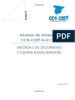 CCN-CERT IA-01-16 Medidas Seguridad Ransomware