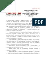ACUERDO POLÍTICO DE UNIDAD POR LA PROSPERIDAD DEL PUEBLO Y EL RENACIMIENTO DE MÉXICO