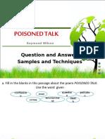 Poisoned Talk Quiz