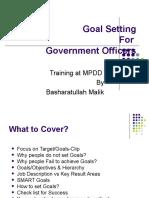 Goal Setting Govt Officers