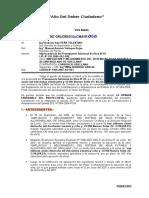 INFORME 065 DEDUCTIVO N 01 Ampliacion y Mejoramiento Sistema de Agua Potable Orellana