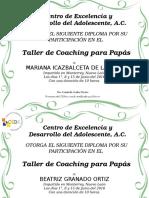 Diploma Del Taller Papas