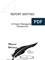 Report Writing_Project Management Perspective