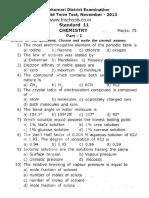 11th Chemistry 2nd Midterm Em 2013