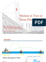Motion in Three or Two Dimensional