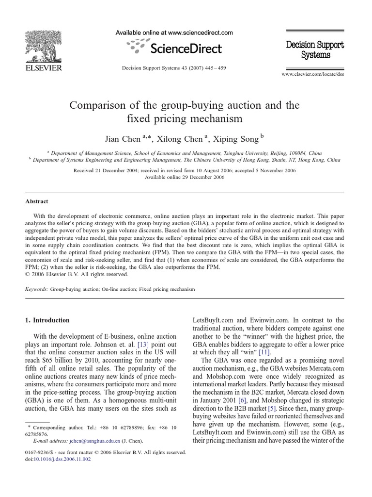 Comparison Of The Group Buying Auction And Fixed Pricing Shop Cheap From China Suppliers At Alwaysbetter On Mechanism Sales