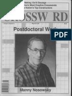 """Postdoctoral Work"