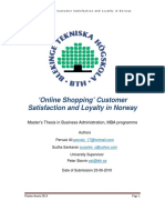 Online Shopping - Customer Satisfaction and Loyalty in Norway -OK