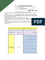 NDV Factory CS Survey