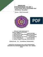KELOMPOK 4_7G_Pendidikan Islam Pada Masa Rasulullah Dan Khulafaur Rasyidin