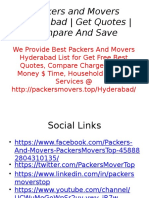 Encounter The Best Moving Knowledge With Qualified Packers And Movers Hyderabad
